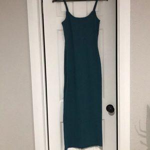 MISSGUIDED teal tank knit maxi dress